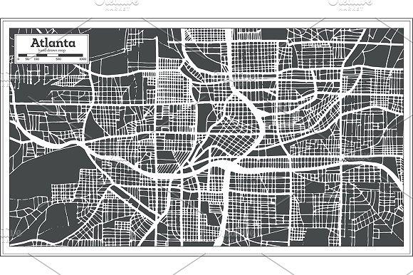 Atlanta Georgia USA City Map