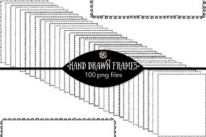 Set 119 - 100 Hand Drawn Frames