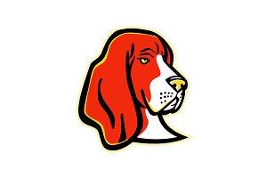 Basset Hound Dog Mascot