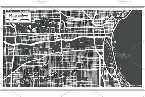 Milwaukee Wisconsin USA City Map
