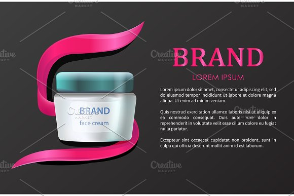 Brand Product Advertising Vector Illustration