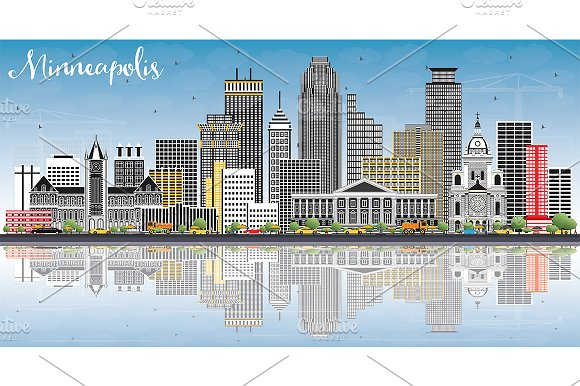 Minneapolis Minnesota USA Skyline