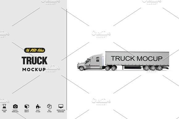 Cargo Truck Mockup