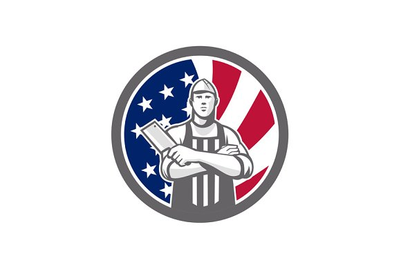 American Butcher Front USA Flag Icon
