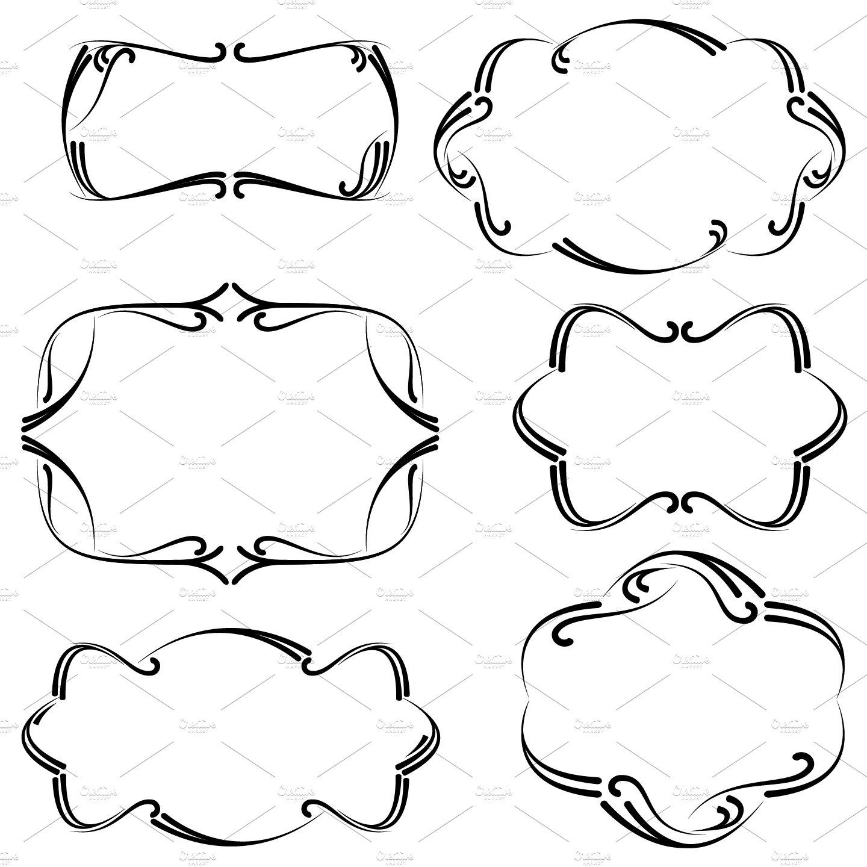 Flourish Frames Vectors and Clipart ~ Illustrations ~ Creative Market