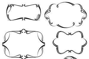 Flourish Frames Vectors and Clipart