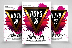 Abstract Futuristic Flyer Templates