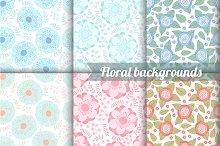6 flower seamless pattern