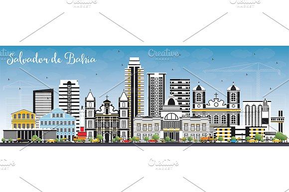 Salvador De Bahia City Skyline