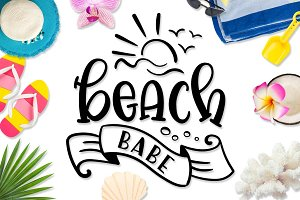 Beach Babe SVG DXF PNG EPS