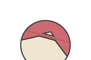 Cut corners idiom vector