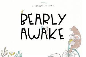 Bearly Awake - Handwritten Caps Font