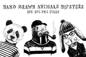animals hipsters