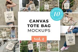 Canvas Tote Bag Mockups Pack Vol. 2