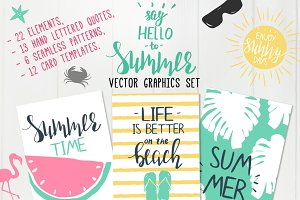 """Hello,summer"" vector set"