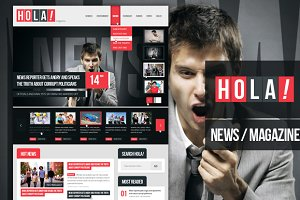 Hola News/Magazine PSD Template
