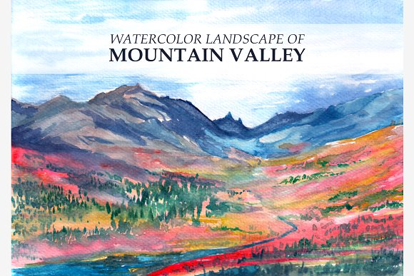 Watercolor Valley