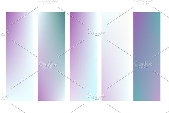 Soft Color Background Modern Screen Vector Design For Mobile App Soft Color Gradients Vector