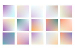 Soft color background. Modern screen vector design for mobile app. Soft color gradients. Vector.