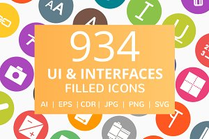 934 UI & Interface Filled Round Icon