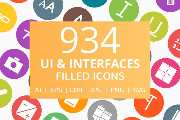 934 UI Interface Filled Round Icon