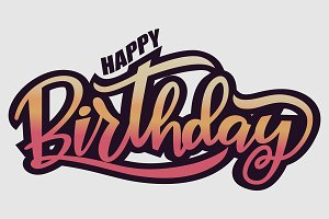 Gradient Happy Birthday greeting