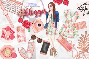 Blogger clipart collection