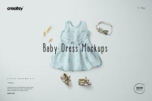Baby Dress Mockup Set 1