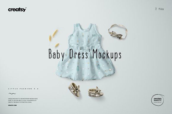 Download Baby Dress Mockup Set 1