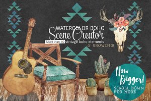 Watercolor Boho Scene Creator