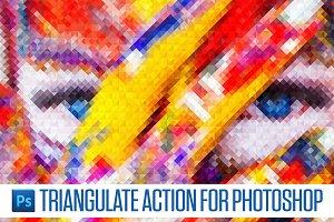 Triangulate Photoshop Action