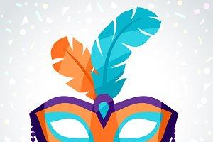 Festive carnival masks.