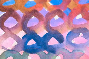 watercolor circle painted background