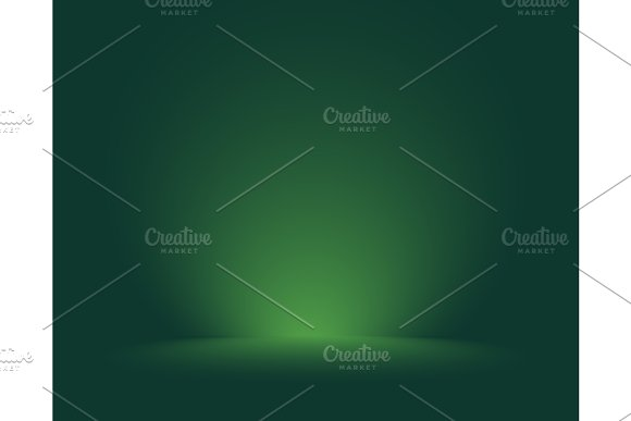 Empty Green Studio Room Background Template Mock Up For Display Of Product Business Backdrop Vector