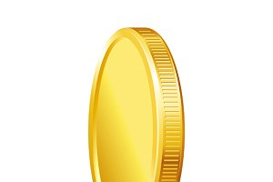 Golden shiny coins