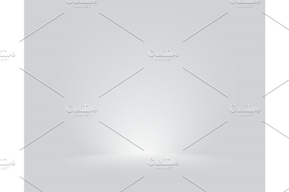 Bright Grey Studio Room Gradient Background Wall Vector