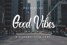 Good Vibes handwritten font