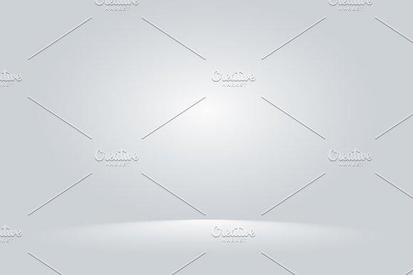 Bright Grey Studio Room Gradient Background Wall Vector