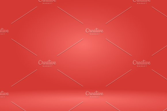 Empty Red Studio Room Background Vector Illustration