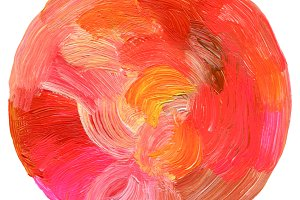 circle acrylic watercolor paint