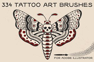 Tattoo Art Brushes for Illustrator