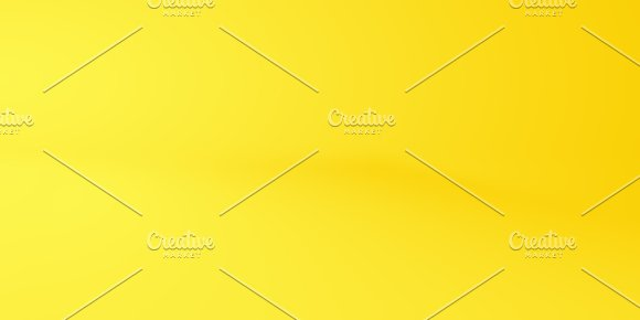 Yellow Empty Studio Room Background Template Mock Up For Display Of Content Or Product