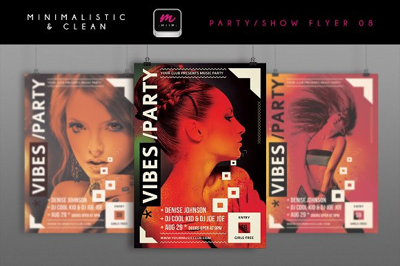 Minimalistic Party/Show Flyer 08