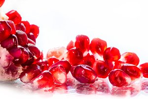 Pomegranate fruit close up.