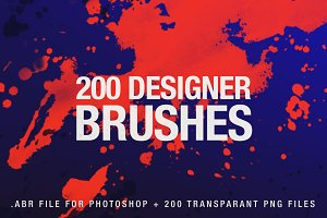 200 Designer Brushes for Photoshop