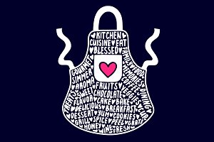 Apron typography clipart, svg file