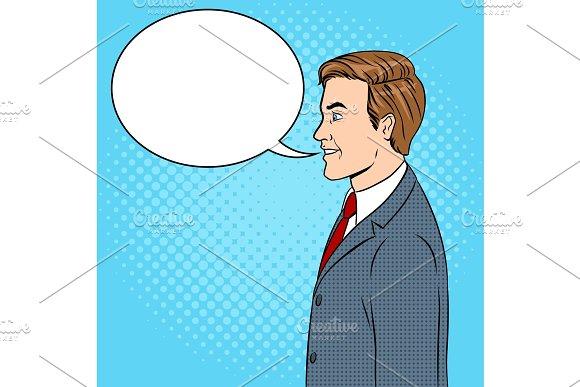 Businessman Pop Art Vector Illustration