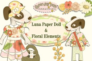 Luna Digital Paper Doll