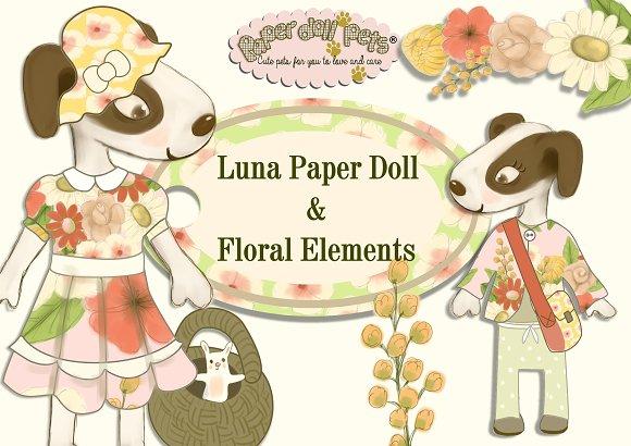 Luna Digital Paper Doll