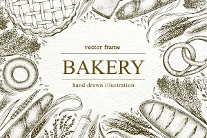 Bakery Vector Frame